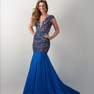 Custom Sherri hill royal blue gown!